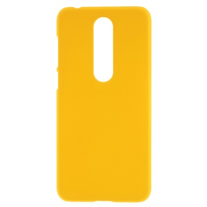Rubberized Plastic Shell Case for Nokia 6.1 Plus / X6 (2018) - Yellow
