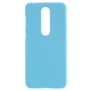 Rubberized Hard Protective Shell for Nokia 6.1 Plus / X6 (2018) - Baby Blue