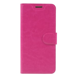 Crazy Horse Texture PU Leather Phone Protection Case for Nokia 6.1 Plus / X6 - Rose