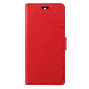 Stand Leather Card Holder Mobile Phone Cover for Nokia 5.1 - Red
