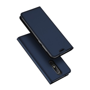 DUX DUCIS Skin Pro Series Leather Stand Card Holder Phone Casing for Nokia 5.1 - Dark Blue