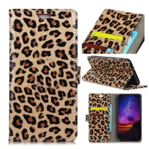 For Nokia 3.1 Leopard Pattern Wallet Stand Leather Mobile Phone Cover