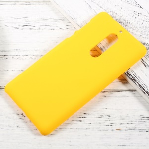 Rubberized Hard PC Case for Nokia 5 - Yellow