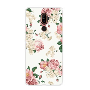 Pattern Printing Soft TPU Back Shell for Nokia 7 plus - Blooming Flower
