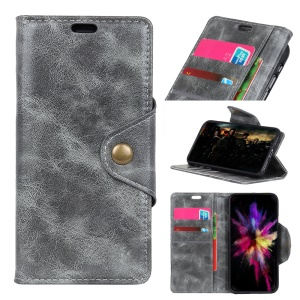 Wallet Leather Stand Cover for Nokia 6.1 Plus / X6 (2018) - Grey