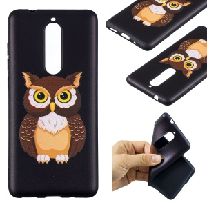 For Nokia 5.1 Embossment Patterned TPU Ultra-thin Cover - Cool Owl