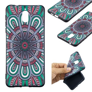 Pattern Printing Embossed TPU Case for Nokia 3.1 - Symmetric Pattern