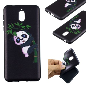 Pattern Printing Embossed TPU Back Case for Nokia 3.1 - Panda Pattern