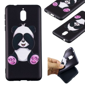 Pattern Printing Embossed TPU Shell Case for Nokia 3.1 - Cute Panda