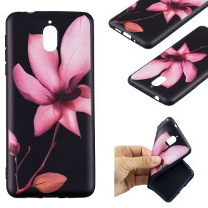 Pattern Printing Embossed TPU Case Shell for Nokia 3.1 - Flower Pattern