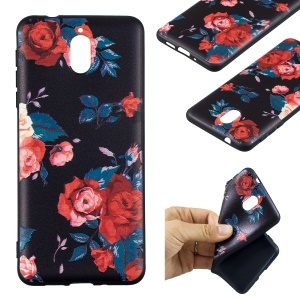 Pattern Printing Embossed Soft TPU Case for Nokia 3.1 - Vivid Flowers