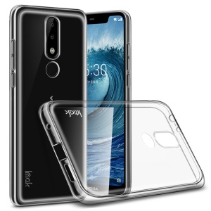 IMAK Stealth Case Clear 0.7mm TPU Back Case for Nokia 5.1 Plus / X5