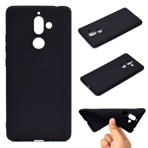 Soft Matte TPU Back Case for Nokia 7 plus - Black