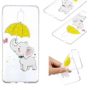 Little Elephant with Umbrella