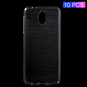 10Pcs/Set Clear Soft TPU Mobile Phone Cases with Non-slip Inner for Nokia 3.1