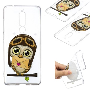 Pattern Printing TPU Case for Nokia 5.1 - Owl Pattern