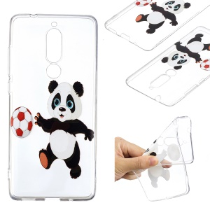 Pattern Printing TPU Back Case for Nokia 5.1 - Panda Playing Football