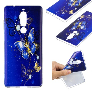 Pattern Printing TPU Cover Shell for Nokia 5.1 - Butterfly Pattern