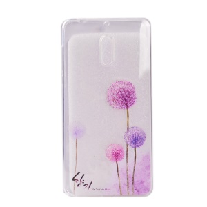 Pattern Printing TPU Phone Case for Nokia 6 - Dandelions Pattern