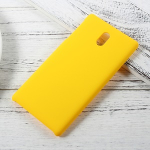 Rubber Coating Hard PC Protective Casing Accessory for Nokia 3 - Yellow