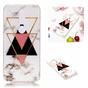 Marble Pattern IMD TPU Soft Shell Case for Nokia 7.1 - Style R