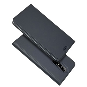 Auto-absorbed Card Holder Leather Flip Case for Nokia 5.1 Plus / X5 - Black