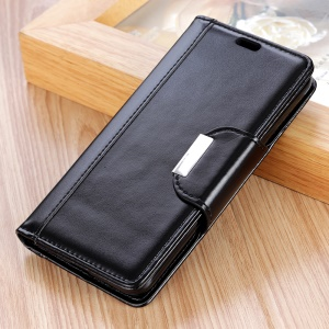 Wallet Leather Stand Case for Nokia 9 - Black