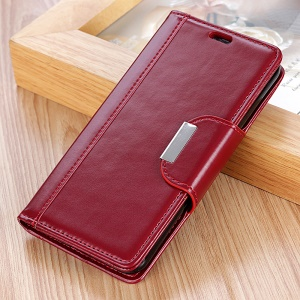 Wallet Leather Stand Cover for Nokia 9 - Red