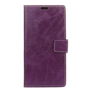 Crazy Horse Magnetic Leather Stand Case for Nokia 9 PureView - Purple