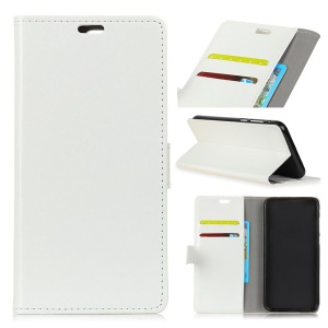Crazy Horse Texture Leather Phone Cover with Wallet Stand for Nokia 8.1 / X7 (China) - White