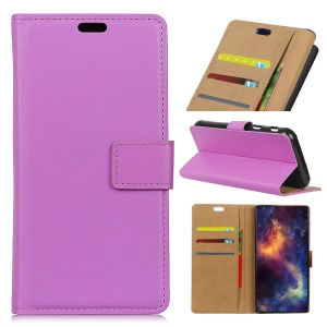 Magnetic Leather Wallet Stand Protector Cover for Nokia 3.1 Plus - Purple