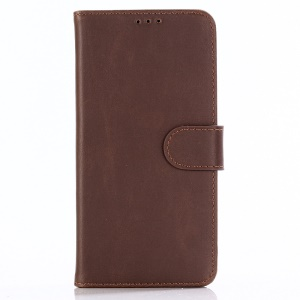 Retro Crazy Horse PU Leather Wallet Stand Phone Case for Nokia 8.1 / X7 - Coffee