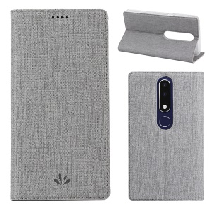 VILI DMX Für Nokia 5.1 Plus / X5 (China) Cross-Textur-Lederdeckel Mit Automatischer Absorption - Grau