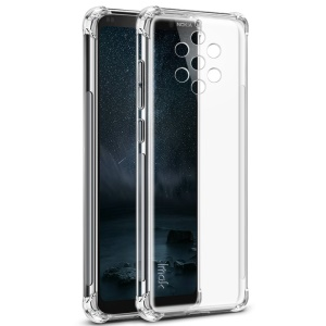 IMAK Skin Feel Drop-proof TPU Case + Explosion-proof Screen Film for Nokia 9 PureView - Transparent