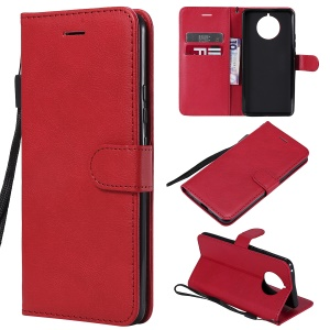 Wallet Leather Stand Case for Nokia 9 PureView - Red