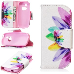 Pattern Printing Magnetic Leather Wallet Case for Nokia 3310 (2017) - Colorful Petals