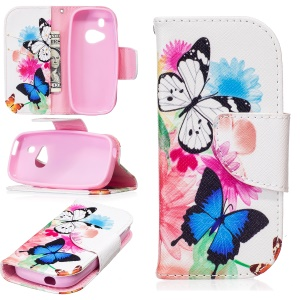 Pattern Printing PU Leather Wallet Case for Nokia 3310 (2017) - Vivid Butterflies