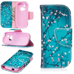 Pattern Printing Wallet Leather Protective Case for Nokia 3310 (2017) - Tree with Flowers