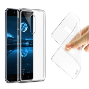 IMAK for Nokia 5 Stealth Clear TPU Case Phone Cover + Screen Protector Film
