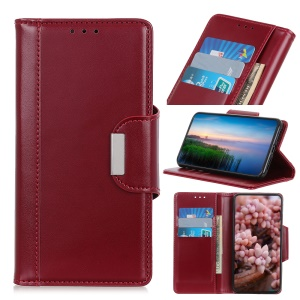 PU Leather Case 3 Card Slots All Round Protection Leather Casing for Nokia 2.2 - Red