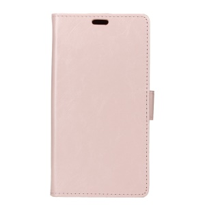 Crazy Horse Magnetic Leather Wallet Casing Cover para Nokia 5 - recortar