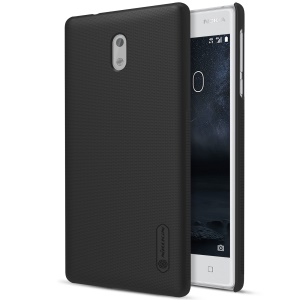 NILLKIN Super Frosted Shield Plastic Hard Back Case for Nokia 3 - Black