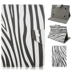 PU Leather Stand Cover for iPad Air 2 / Galaxy Tab E 9.6, Size: 265 x 177mm - Zebra Pattern