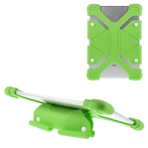Universal Butterfly Kickstand Silicone Case Cover for iPad Air 2 / Samsung Galaxy Note 10.1 Etc - Green