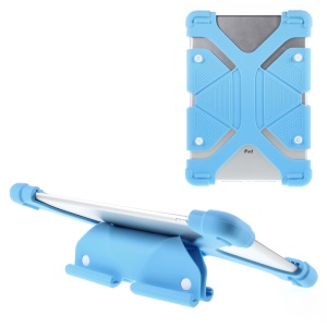 Universal Butterfly Kickstand Silicone Case Cover for iPad Air 2 / Amazon Kindle Fire HD 8.9 Etc - Blue