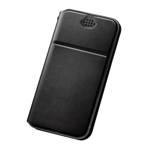 DUX DUCIS No Camera Hole Universal Leather Case for iPhone 8 Plus/LG Q6, Size: 154 x 76mm - Black