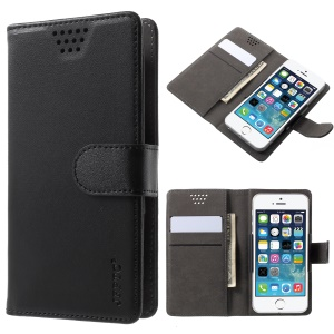 Universal Wallet PU Leather Mobile Case for Motorola Moto G / LG K3 (2017) etc, Width: 55-70mm