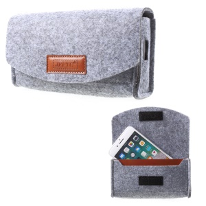 Universal Nylon Storage Pouch for Phone / Power Bank / Cables, Size: 15 x 9 x 3cm - Light Grey