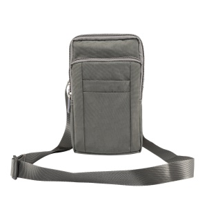 7 Inch Outdoor Molle Pouch Waist Pack Utility Gadget Bag with Cell Phone Holster - Grey