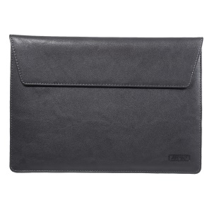 Elegant Series Universal Leather Laptop Sleeve Pouch Bag for Macbook Air/Pro 13.3 Inch, Size: 36x25cm - Black